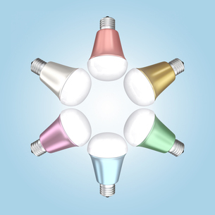 LED電球のカラーバリエーションの写真素材 [FYI04647438]