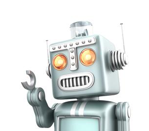 かわいいレトロロボットの写真素材 [FYI04647444]