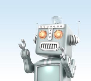 かわいいレトロロボットの写真素材 [FYI04647446]