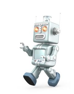 キュートなロボットが走るの写真素材 [FYI04647455]