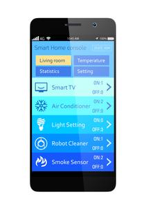 スマートホームエネルギー管理アプリの写真素材 [FYI04647469]