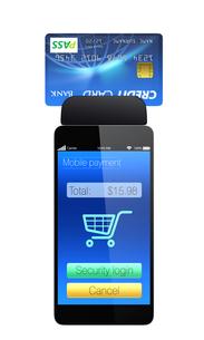 スマートフォン用モバイル決済コンセプトの写真素材 [FYI04647473]