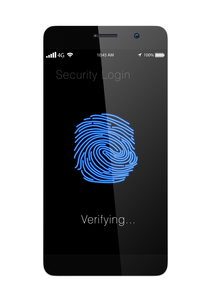 スマートフォンの指紋認証システムの写真素材 [FYI04647478]
