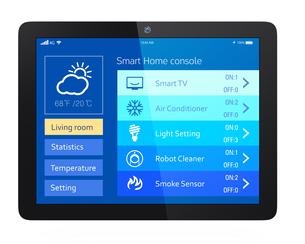 スマートホームエネルギー管理タブレットアプリの写真素材 [FYI04647498]