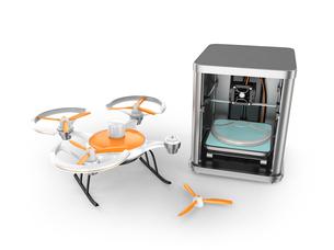 3Dプリンタでドローンの部品をプリントするの写真素材 [FYI04647501]