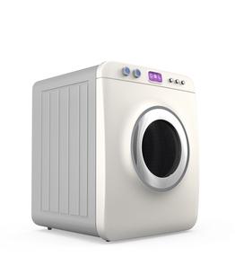 タッチパネル制御のスマート洗濯機の写真素材 [FYI04647504]
