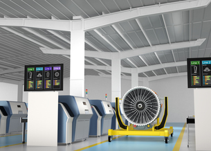3Dプリントによる生産のスマート工場コンセプトの写真素材 [FYI04647506]