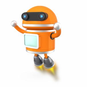 空を飛ぶロボットの写真素材 [FYI04647516]