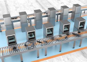 3Dプリンタ工場で自動車のパーツを生産するコンセプトの写真素材 [FYI04647525]