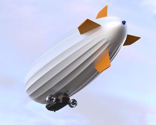 飛行する飛行船の写真素材 [FYI04647531]