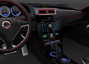 自動車コンソールインタフェースUIコンセプトの写真素材 [FYI04647533]
