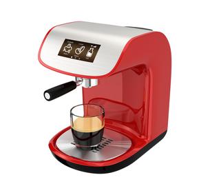 タッチパネル付きのエスプレッソコーヒーメーカーの写真素材 [FYI04647553]