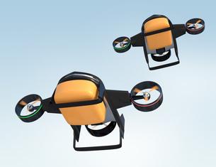 垂直昇降と水平飛行2モード備えた宅配ドローンの写真素材 [FYI04647606]