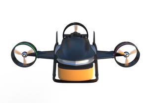 垂直昇降と水平飛行1モード備えた宅配ドローンの写真素材 [FYI04647610]