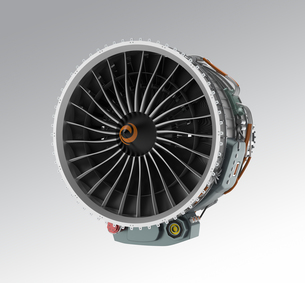 ジェットファンエンジンの正面の写真素材 [FYI04647631]