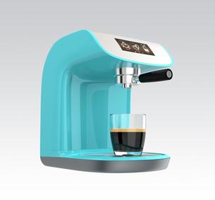 タッチパネル付きのエスプレッソコーヒーメーカーの写真素材 [FYI04647633]