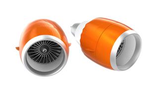 カウル付きとカウルなしのジェットファンエンジンのイメージの写真素材 [FYI04647641]