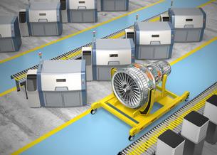3Dプリントによる生産のスマート工場コンセプトの写真素材 [FYI04647646]