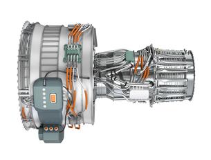 ジェットファンエンジンの側面の写真素材 [FYI04647649]