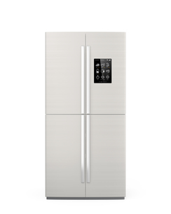 タッチパネルが備えたスマート冷蔵庫の写真素材 [FYI04647670]