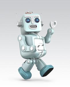 ロボットが手を振りながら歩くの写真素材 [FYI04647687]