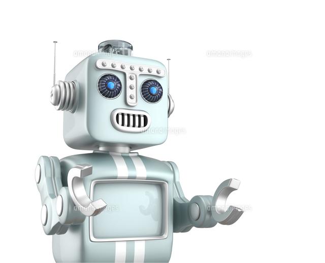 ロボットがプレゼンを行っているの写真素材 [FYI04647689]