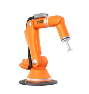 オレンジ色のロボットアームの写真素材 [FYI04647692]