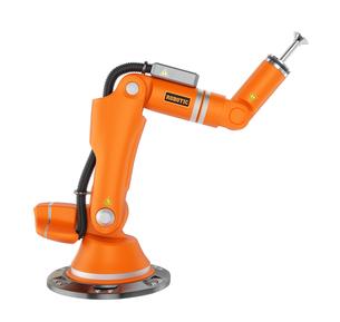 オレンジ色のロボットアームの写真素材 [FYI04647693]