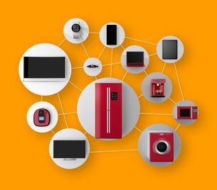 スマート家電ネットワーク連携コンセプトの写真素材 [FYI04647707]