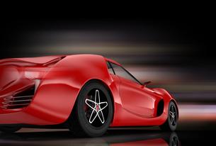 赤色のスポーツカーの写真素材 [FYI04647760]