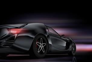ガンメタリック色のスポーツカー。オリジナルデザインの写真素材 [FYI04647768]