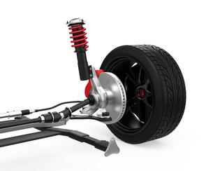 自動車用ブレーキシステムの構造イメージの写真素材 [FYI04647794]