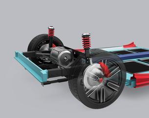 自動車用ブレーキシステムの構造イメージの写真素材 [FYI04647802]