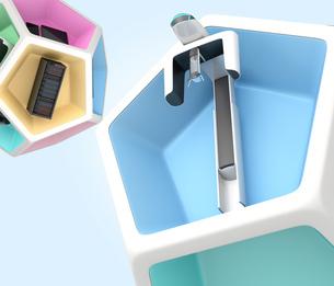歯科ユニット、CT、CADCAM,2Dプリンタなどの連携。デジタルデンティストリーコンセプトの写真素材 [FYI04647874]
