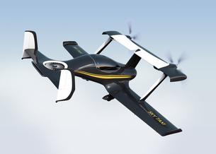 ドローンタクシー。自動運転空中輸送コンセプトの写真素材 [FYI04647948]