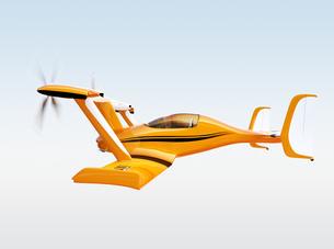 黄色のドローンタクシー。自動運転空中輸送コンセプトの写真素材 [FYI04647953]