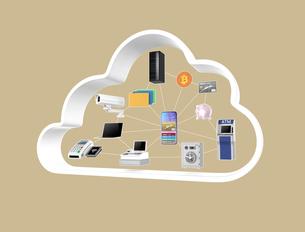 フィンテックサービスのコンセプトイメージの写真素材 [FYI04648034]