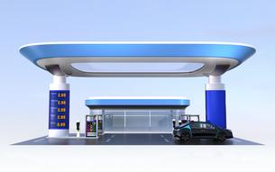 電気自動車用急速充電機が備えるサービスステーションのイメージの写真素材 [FYI04648063]