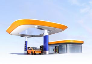 電気自動車用急速充電機が備えるサービスステーションのイメージの写真素材 [FYI04648065]