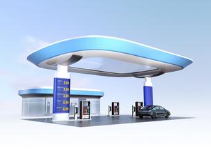 電気自動車用急速充電機が備えるサービスステーションのイメージの写真素材 [FYI04648066]