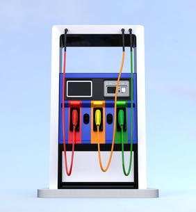 ガソリンスタンドのイメージの写真素材 [FYI04648071]