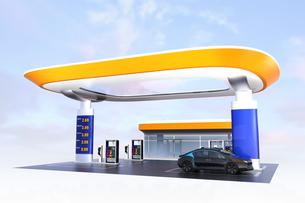 電気自動車用急速充電機が備えるサービスステーションのイメージ。オリジナルデザインの写真素材 [FYI04648073]