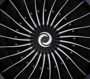 ジェットファンエンジンのブレードの写真素材 [FYI04648094]