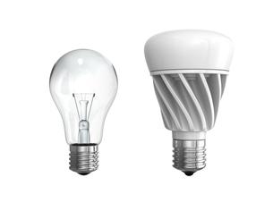 LED電球と白熱電球の写真素材 [FYI04648120]