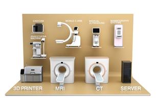 医科用画像診断装置のネットワークコンセプトイメージの写真素材 [FYI04648133]