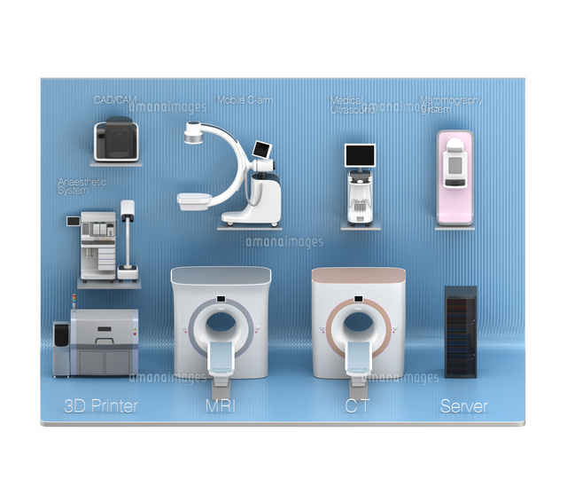 医科用画像診断装置のネットワークコンセプトイメージの写真素材 [FYI04648134]