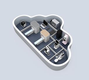 医科用画像診断装置のクラウドソリューションコンセプトの写真素材 [FYI04648136]