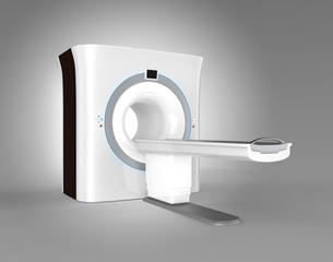 MRIスキャナーイメージ。オリジナルデザインの写真素材 [FYI04648137]