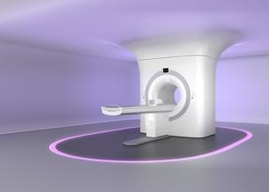 MRI室インテリアイメージ。装置と天井スムーズにつながり、やさしさを演出の写真素材 [FYI04648140]