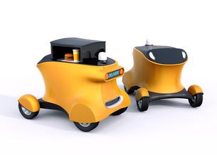 自動運転配送車のコンセプト。無人運転でハンバーガーを配達するの写真素材 [FYI04648183]